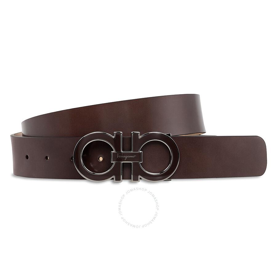 ferragamo adjustable brown leather belt size 41