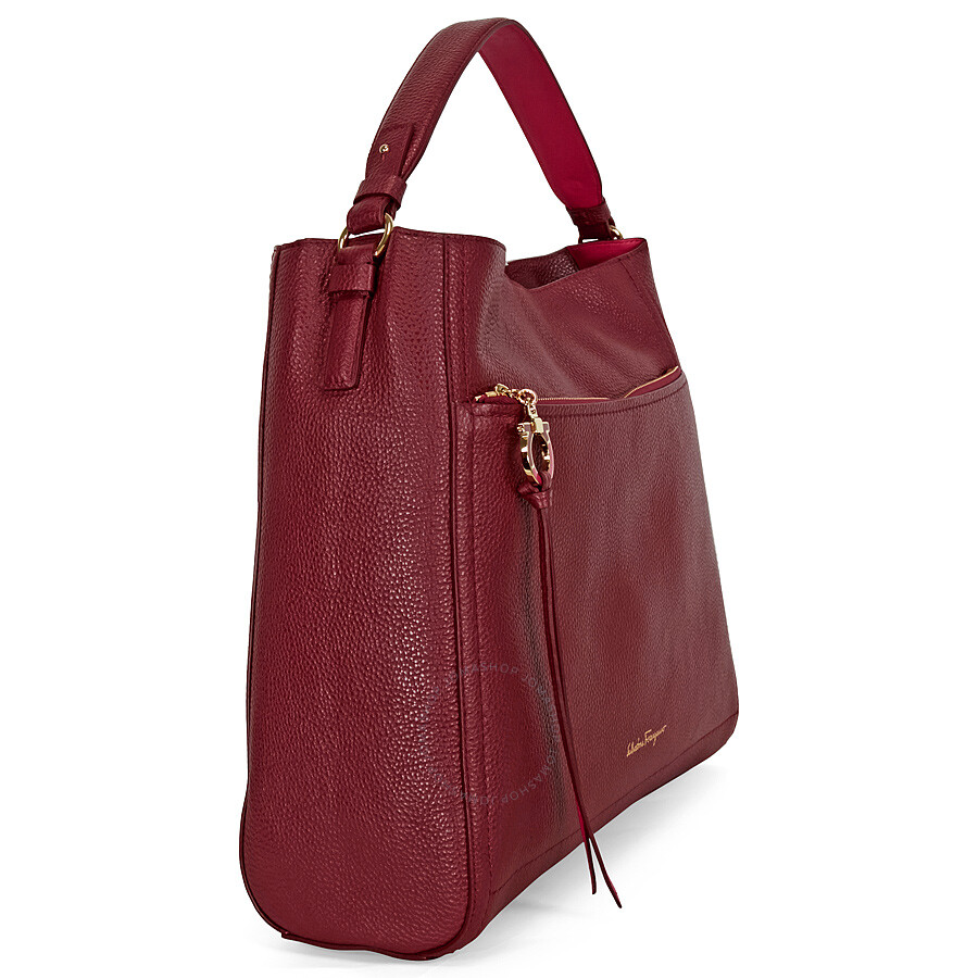 a5033d3d06 Ferragamo Ally Large Leather Hobo Bag - Opera - Salvatore Ferragamo ...