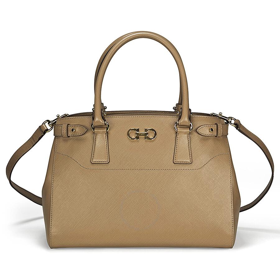 563dc33925 Ferragamo Batik Small Tan Leather Tote - Salvatore Ferragamo ...
