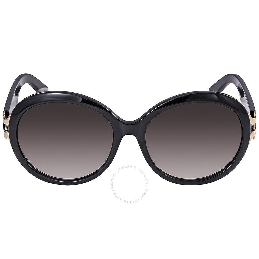 357dd393c2 Ferragamo Black Round Sunglasses SF799SA 001 57 - Ferragamo ...