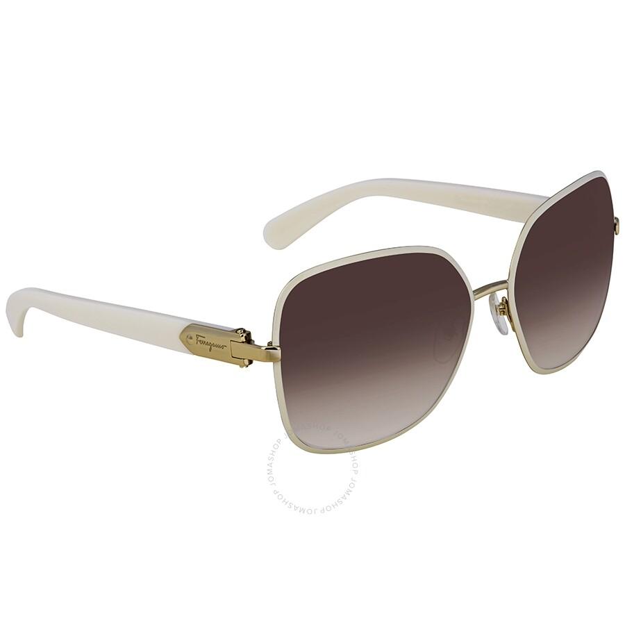 Ferragamo Brown Square Sunglasses Sf150s 721 59
