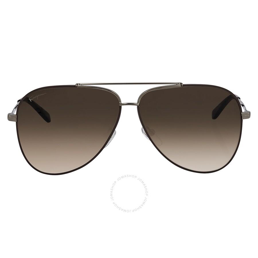 71a7e461cfc4 Ferragamo Brown Aviator Sunglasses SF131S 211 60 Ferragamo Brown Aviator  Sunglasses SF131S 211 60 ...