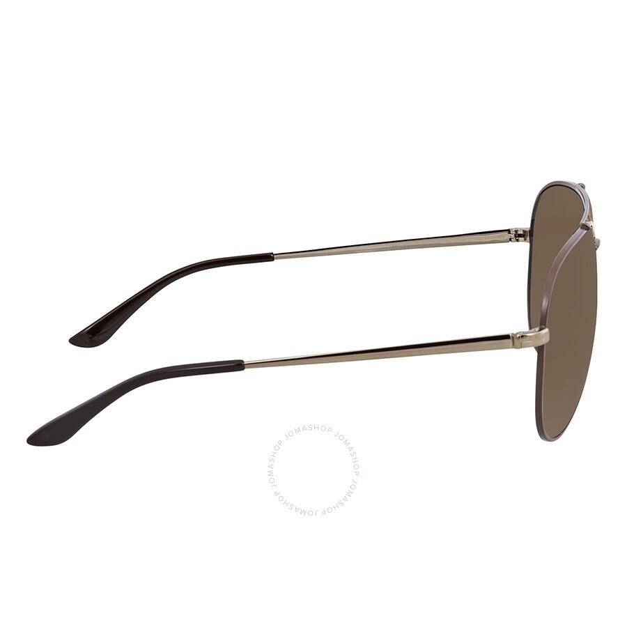 b7770d498aca Ferragamo Brown Aviator Sunglasses SF131S 211 60 - Ferragamo ...