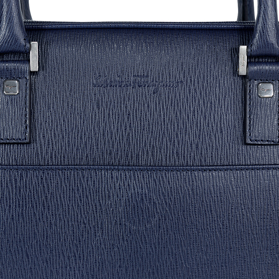 Ferragamo Embossed Calfskin Leather Briefcase - Ultra Marine ... 7331031c8b40d