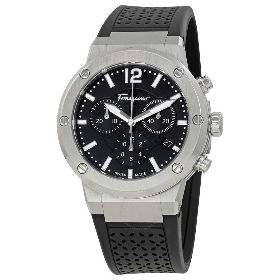 ferragamo f 80 chronograph black