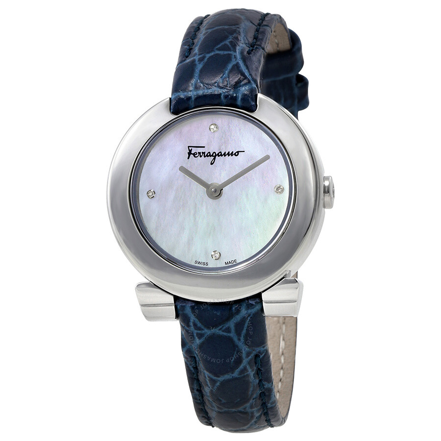 d96822731fb1 Ferragamo Gancino Evening Mother of Pearl Dial Ladies Watch FAP020016 ...