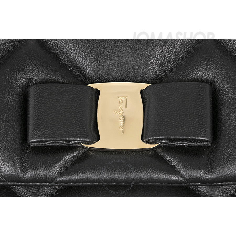 Ferragamo Gelly Quilted Leather Shoulder Bag - Black - Salvatore ... e8cfc72295cc7