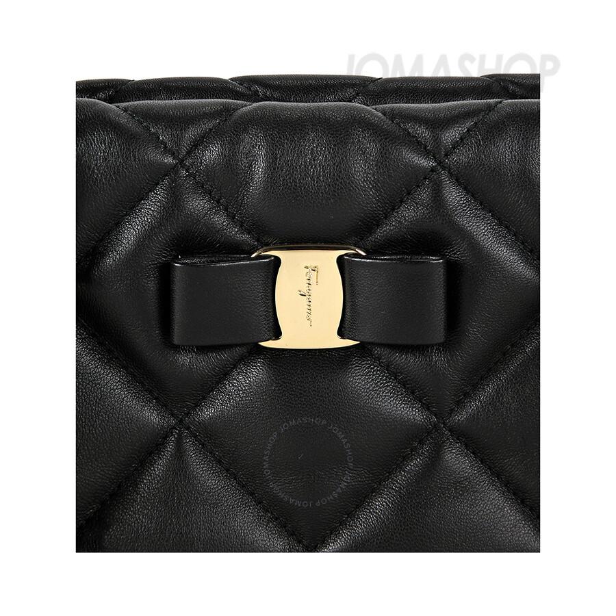 b10b1ca2aa Ferragamo Ginette Quilted Leather Handbag - Black - Salvatore ...