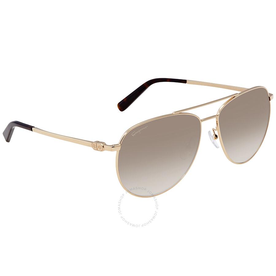 a942c64b78 Ferragamo Grey Gradient Aviator Sunglasses SF157S 717 60 - Ferragamo ...