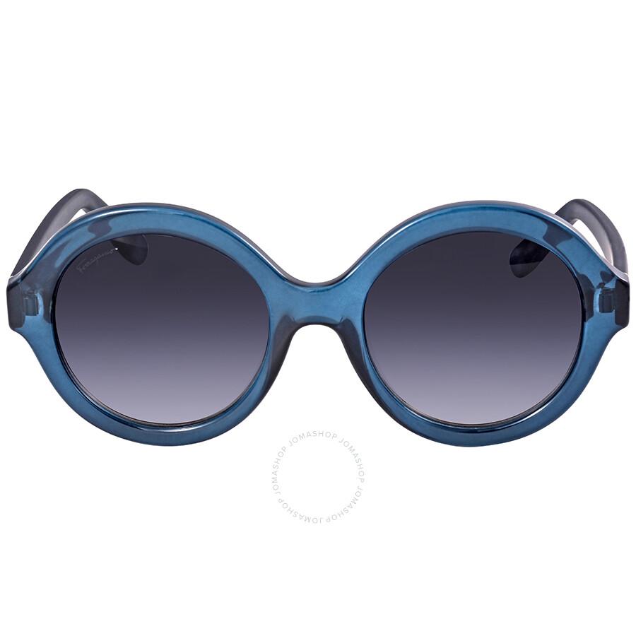bee5847349 Ferragamo Grey Gradient Round Sunglasses SF857S 321 54 - Ferragamo ...