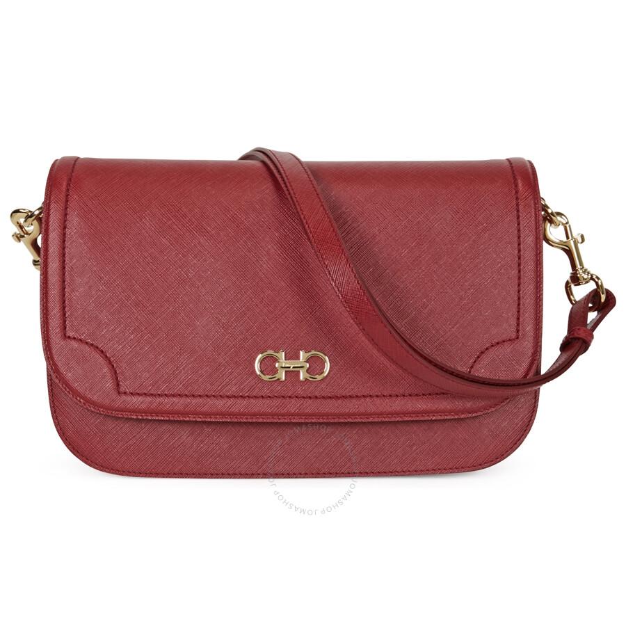 Ferragamo Large Double Gancio Leather Shoulder Bag - Opera Item No.  21-F905OPR 08895b8d36