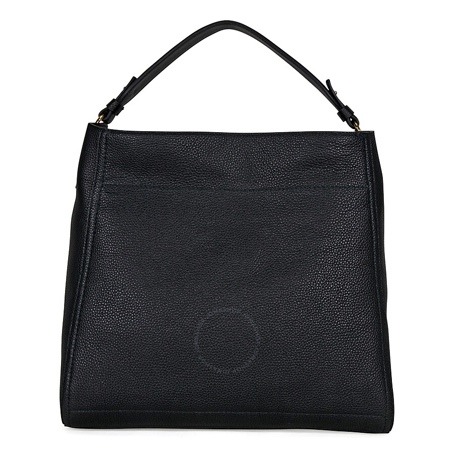 9f0738edf1 Ferragamo Large Gancio Leather Hobo Bag - Black Item No. 21-F574
