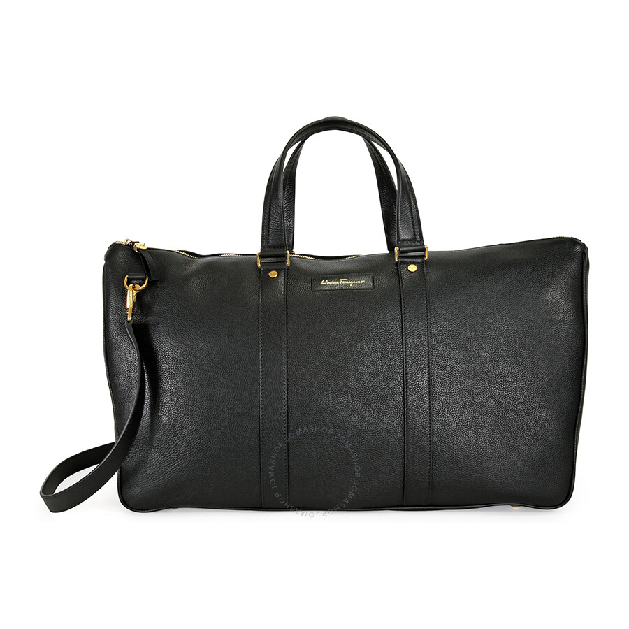 1ad90f48590b Ferragamo Leather Duffle Bag - Black - Salvatore Ferragamo ...