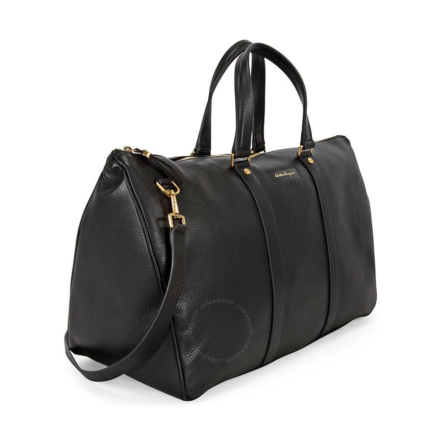 Ferragamo Leather Duffle Bag Black
