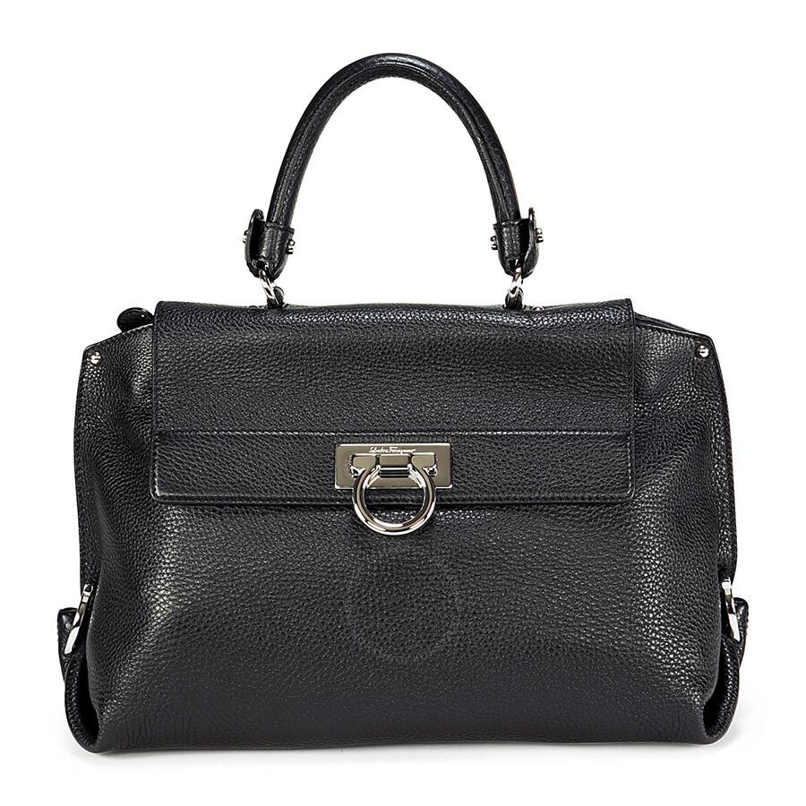 97dde42f65 Ferragamo Leather Sofia Black Leather Small Shoulder Bag Item No. 21-A896