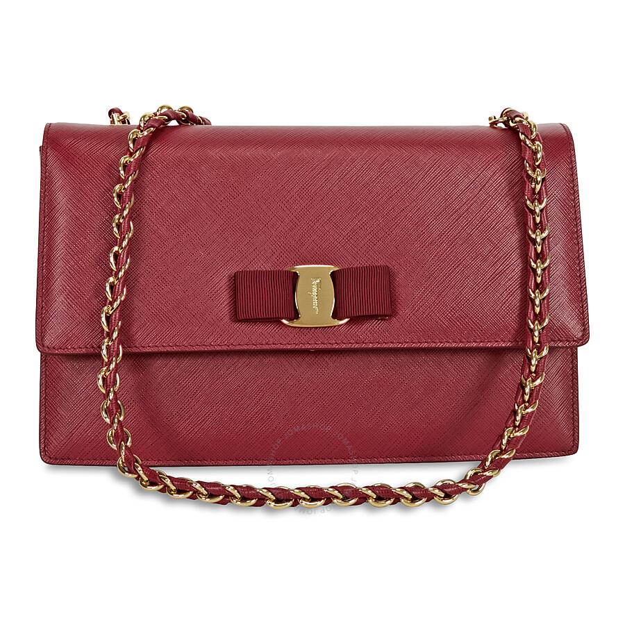 4cad7ccad93 Ferragamo Medium Vara Flap Leather Bag - Opera - Salvatore Ferragamo ...