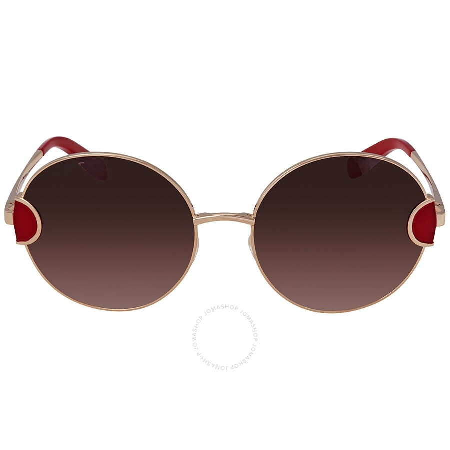 de6800175fd ... Brown Gradient Round Sunglasses SF156S 735 59 ...