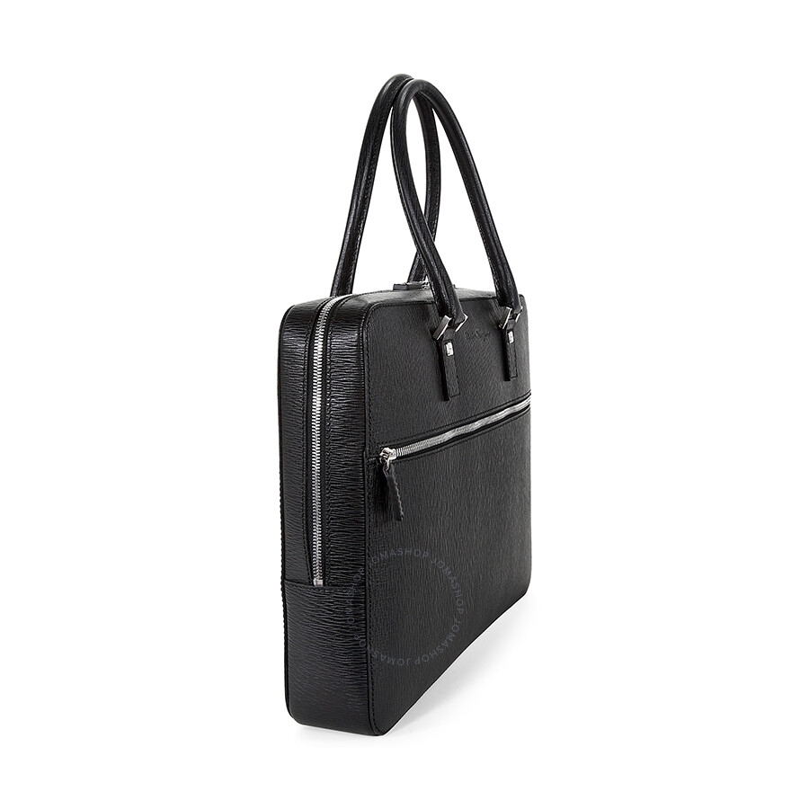 f50037a6a208 Ferragamo Revival Calf Black Leather Computer Briefcase - Salvatore ...