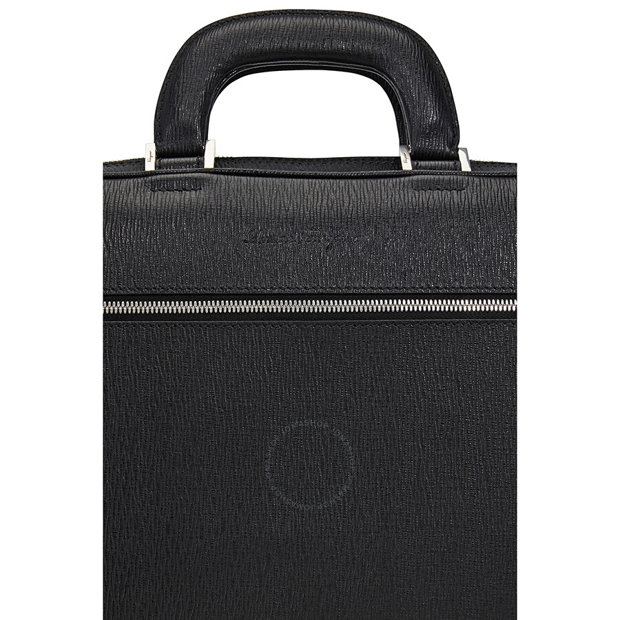 c3ff71bd30de Ferragamo Revival Laptop Leather Briefcase - Nero - Salvatore ...