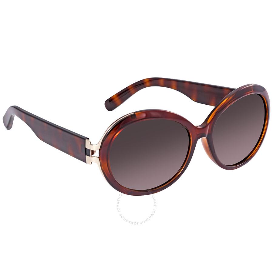 054c23d18a Ferragamo Round Tortoise Sunglasses SF799SA 214 57 - Ferragamo ...