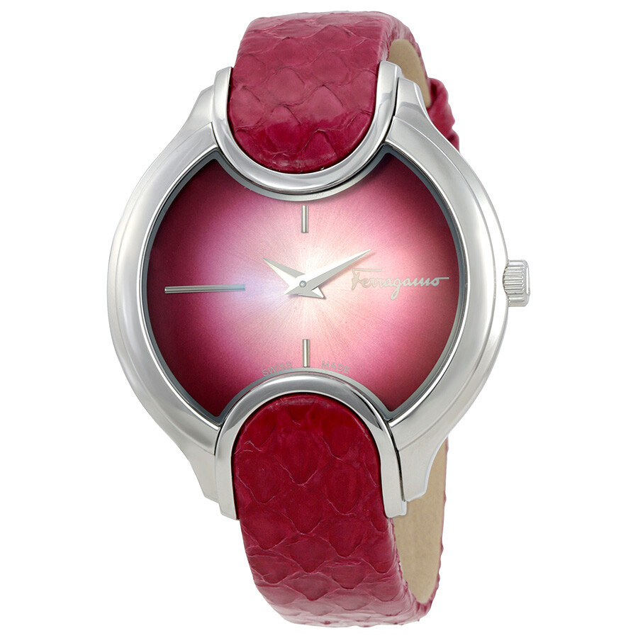 Salvatore Ferragamo Signature Cherry Red Dial Ladies Watch