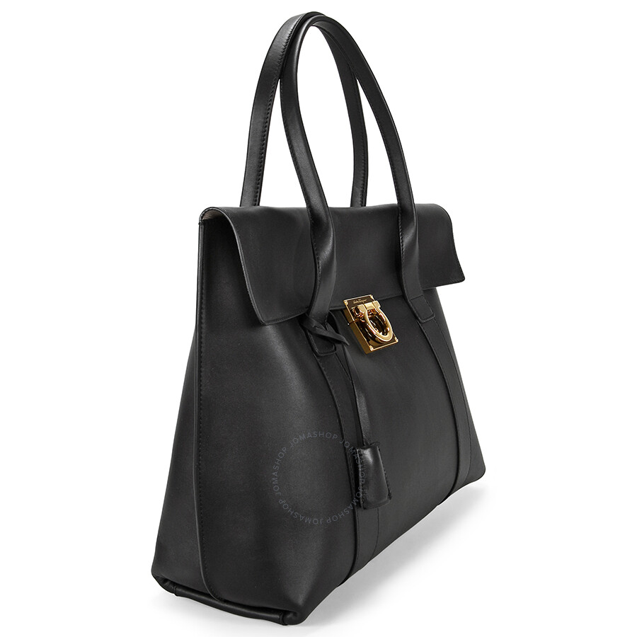 2f14e44448 Ferragamo Sookie Leather Shoulder Handbag - Black - Salvatore ...