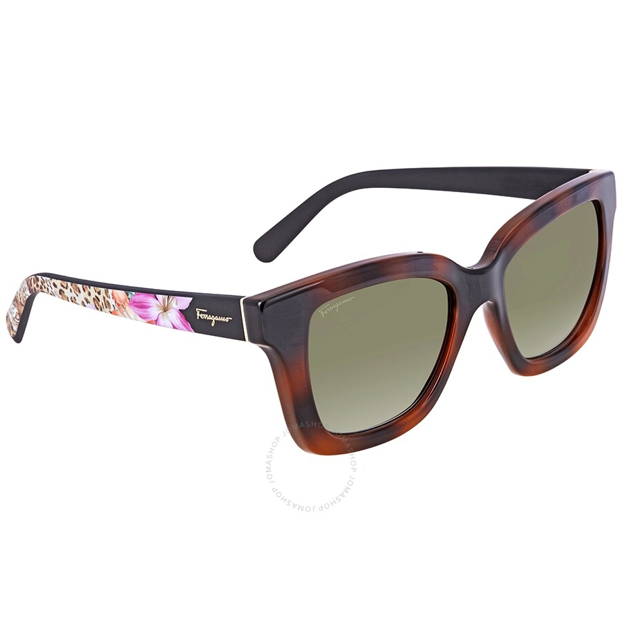 0a588d9ce1 Ferragamo Tortoise Brown Square Sunglasses SF858S 214 53 - Ferragamo ...