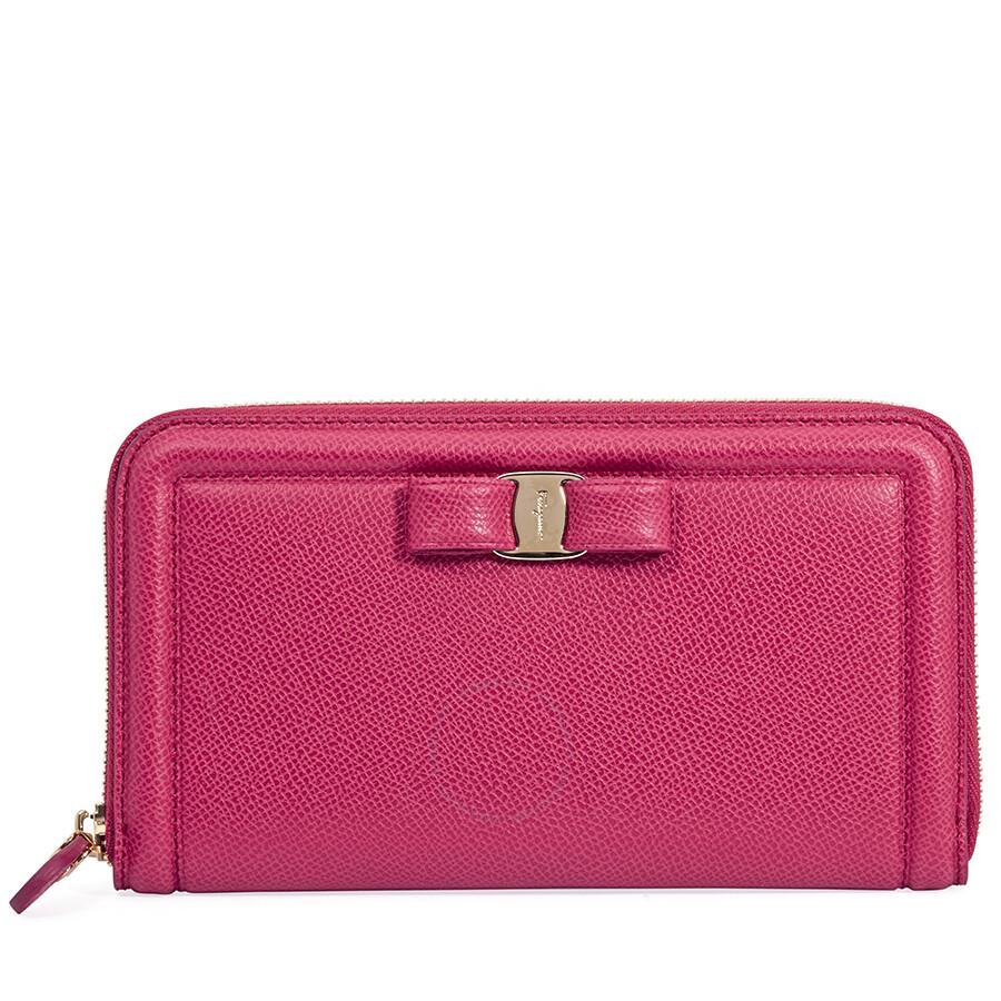07f34695536 Ferragamo Vara Bow Continental Wallet - Begonia Item No. 22C9080 683401