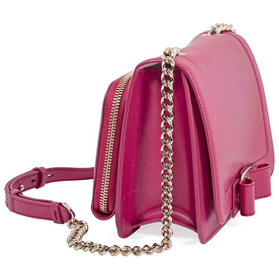 1be6da47b17 Ferragamo Vara Bow Leather Crossbody Bag- Begonia - Salvatore ...