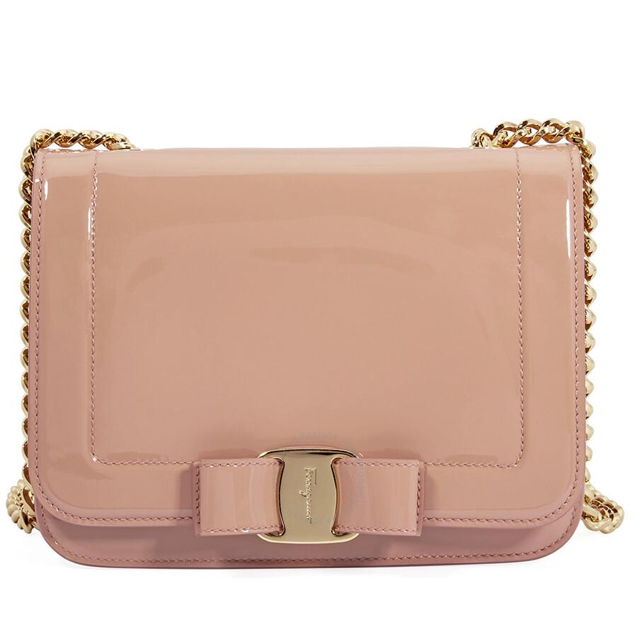 Ferragamo Vara Bow Leather Crossbody Bag- New Blush Item No. 21G8770 687401 59c1a5e2e3e6b