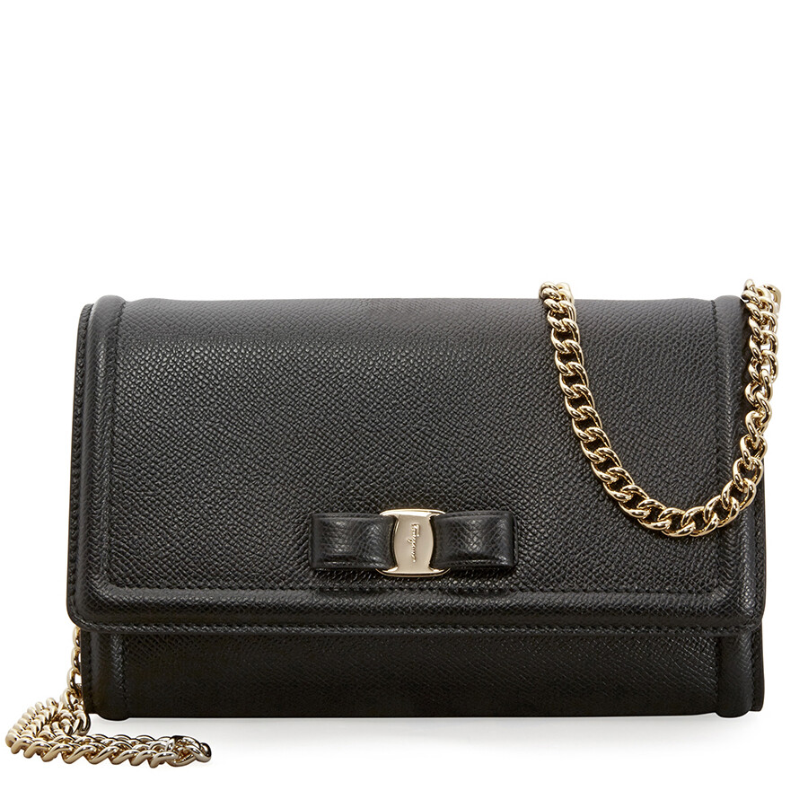 c7b68879cc31 Ferragamo Vara Bow Mini Bag- Black - Salvatore Ferragamo - Handbags ...