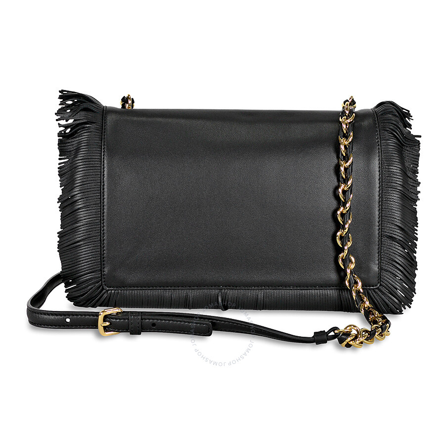 Ferragamo Vara Fringe Flap Leather Crossbody Bag - Nero - Salvatore ... 7ee039bf737fa