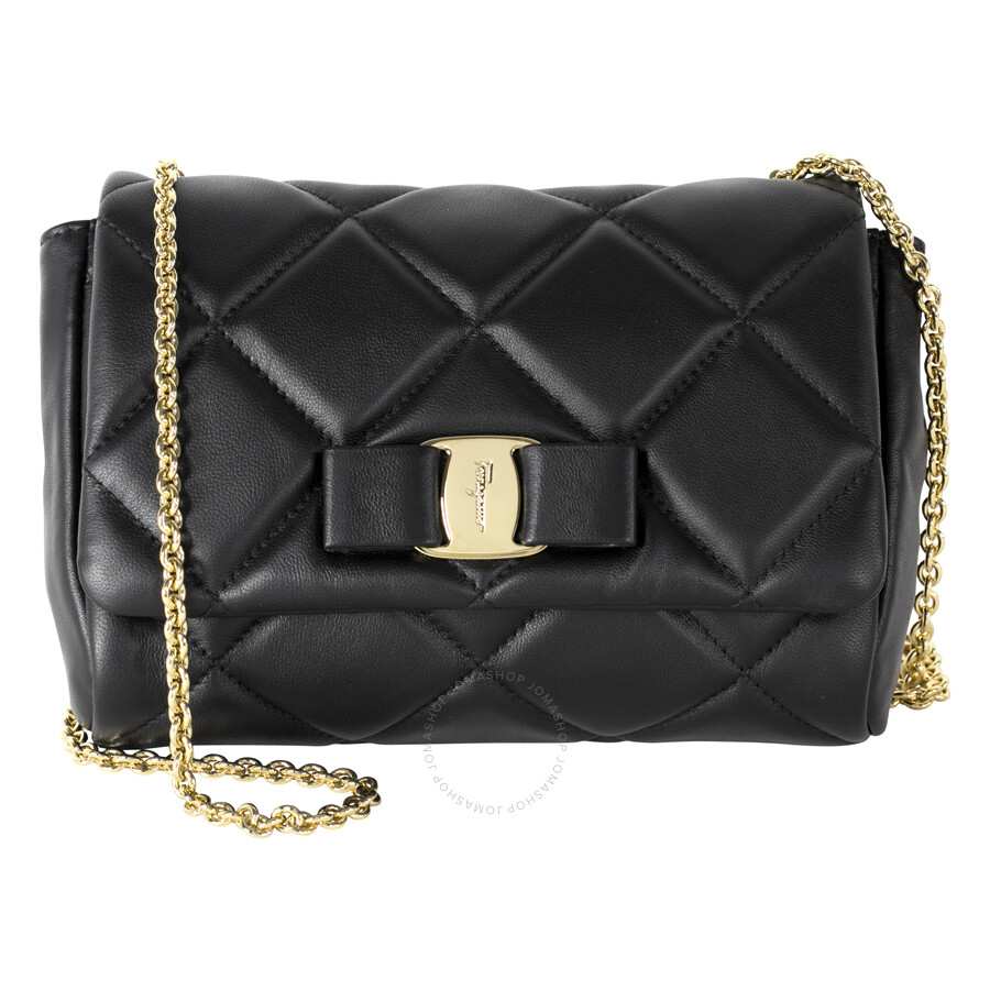 def033bd7f Ferragamo Vara Quilted Nappa Leather Mini Bag - Black - Salvatore ...