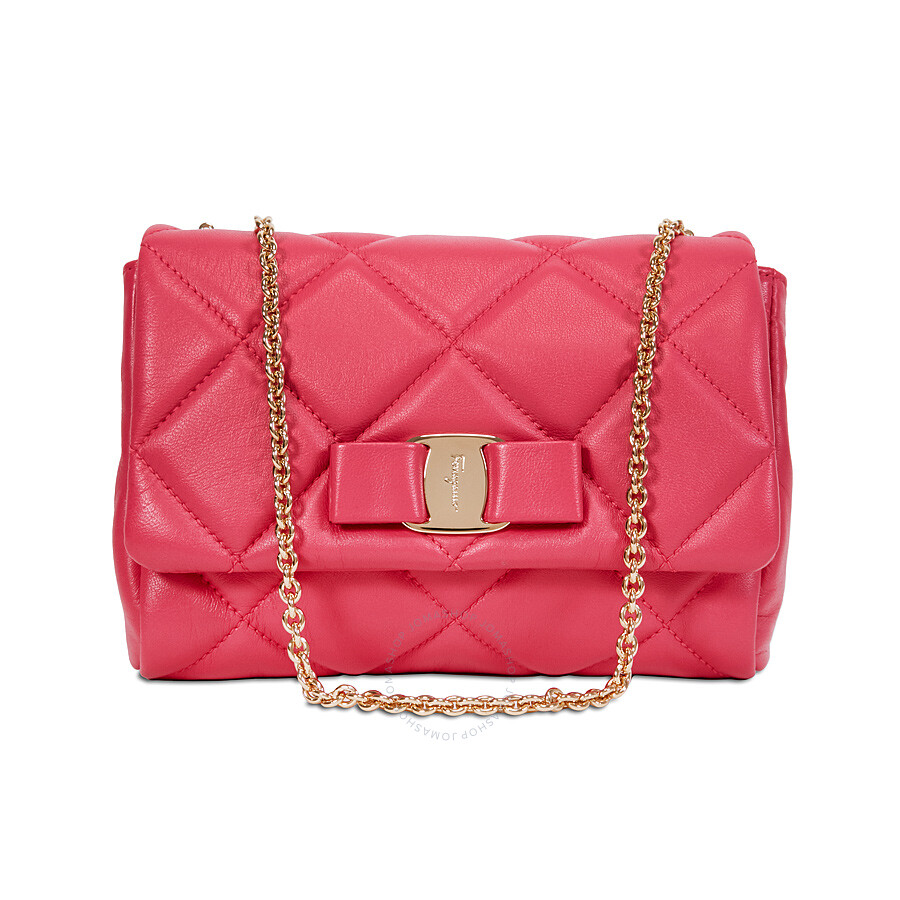 2e8fb20aae Ferragamo Vara Quilted Nappa Leather Mini Bag - Framboise Item No.  22-C150FRM