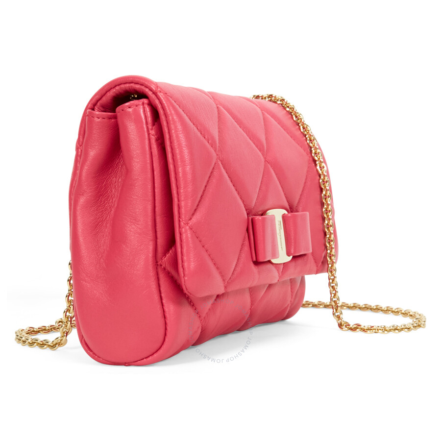 2db68be5c3 Ferragamo Vara Quilted Nappa Leather Mini Bag - Framboise ...