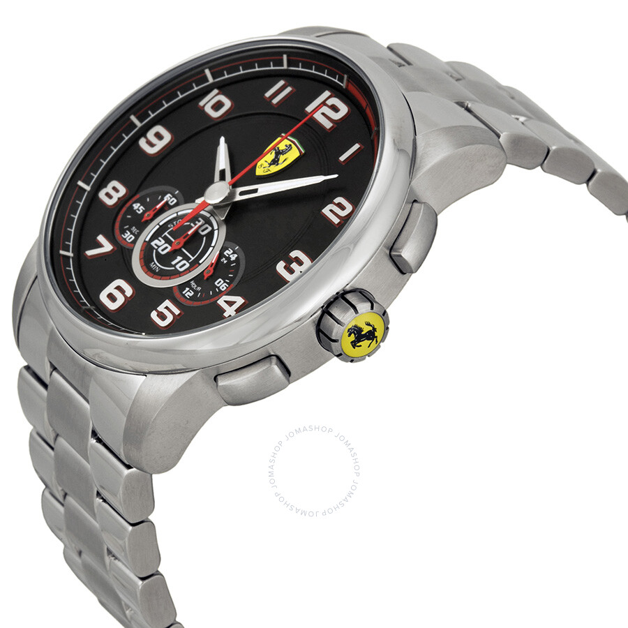 7b02c913920 ... Ferrari Heritage Chronograph Black Dial Stainless Steel Men s Watch  830065 ...