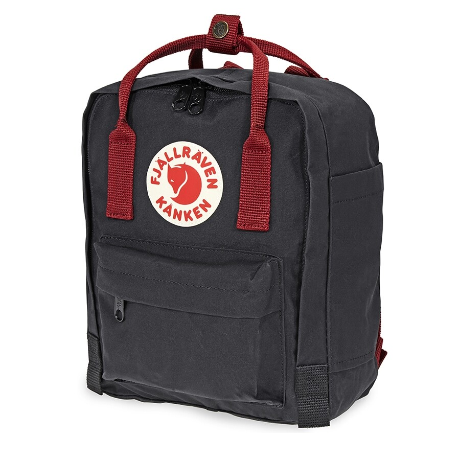 62a6119e2 Fjallraven Kanken Mini Kids Backpack- Black-Ox Red Item No. 23561-550-326