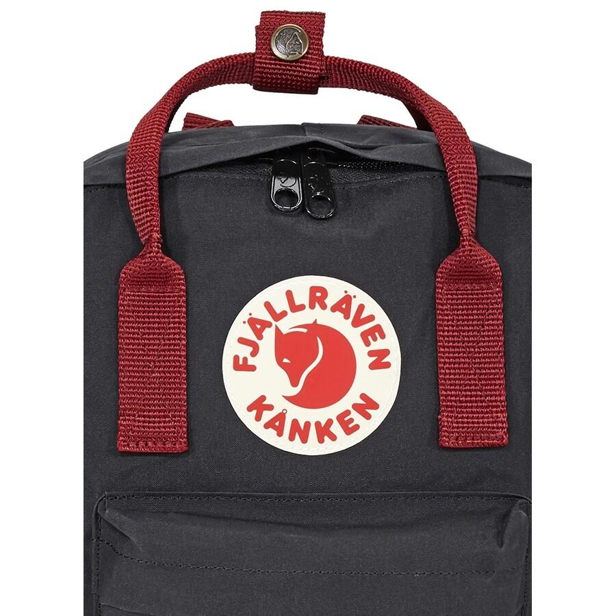 817a39501 Fjallraven Kanken Mini Kids Backpack- Black-Ox Red - Fjallraven ...