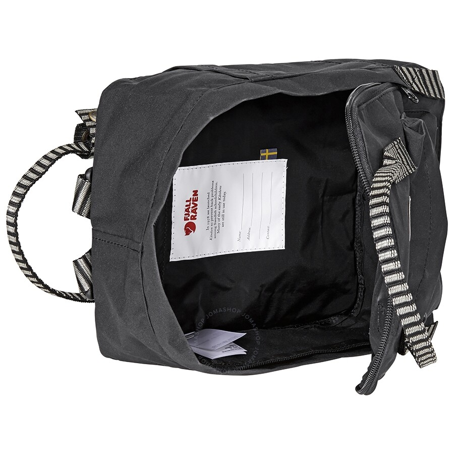Fjallraven Kanken Mini Kids Backpack- Black-Striped