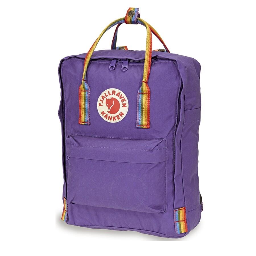 b0c7340d2 Fjallraven Kanken Rainbow Special Edition Backpack- Purple-Rainbow Pattern