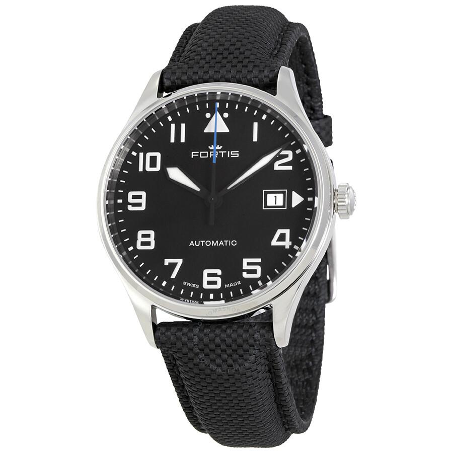 Fortis Pilot Classic Automatic Black Dial Men's Watch 902 ...