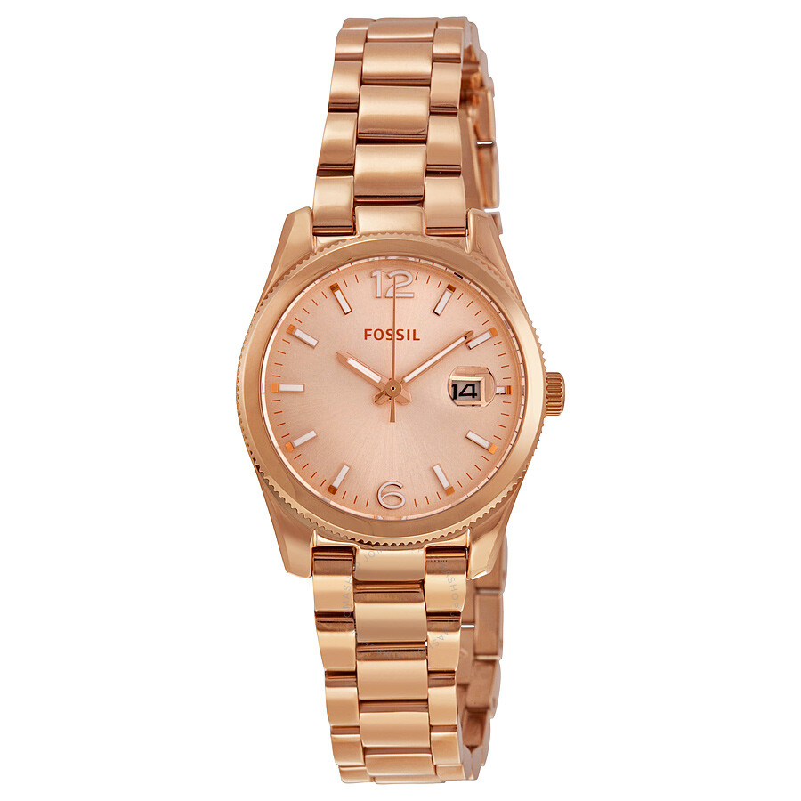 fossil boyfriend rose dial rose gold tone ladies watch es3584 boyfriend fossil watches. Black Bedroom Furniture Sets. Home Design Ideas