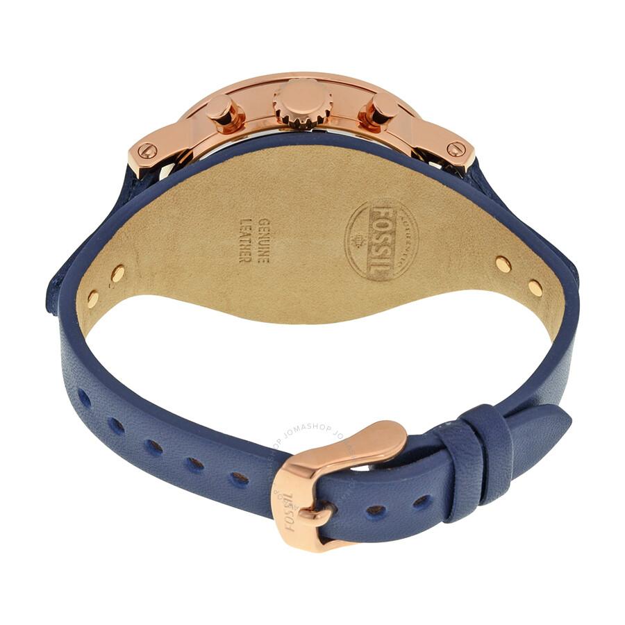 db925ea24 ... Fossil Boyfriend Chronograph Silver Dial Ladies Watch ES3838