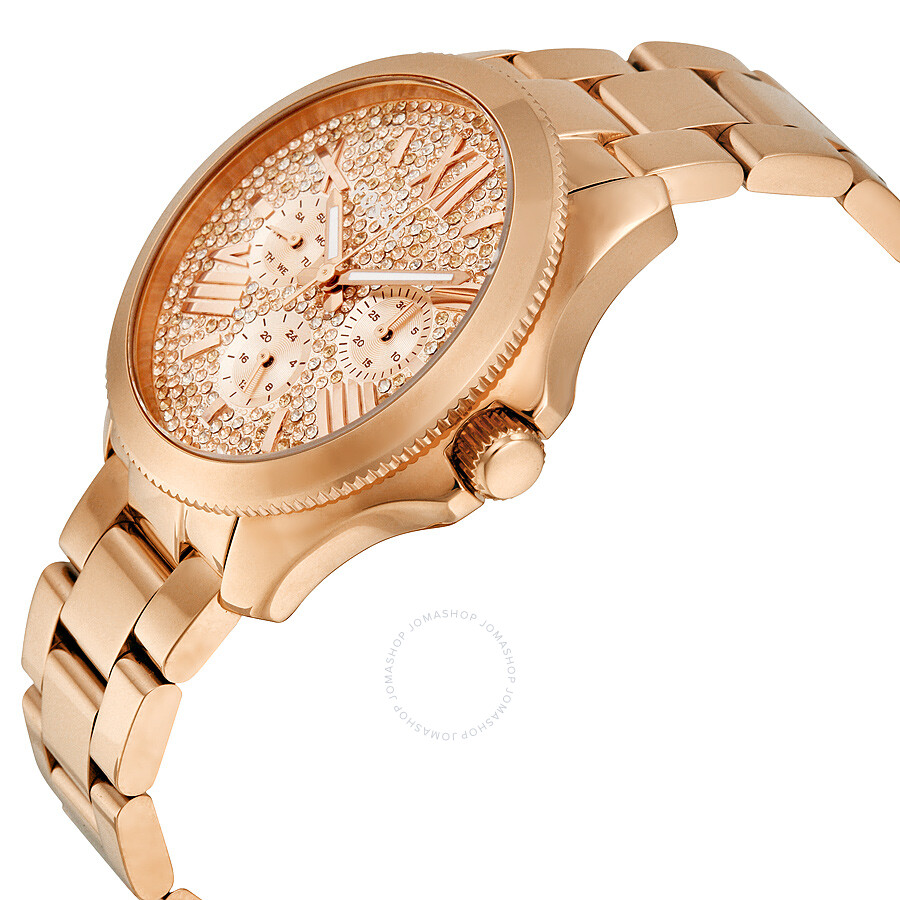 fossil cecile multi function rose crystal set dial rose gold tone ladies watch am4604 cecile. Black Bedroom Furniture Sets. Home Design Ideas