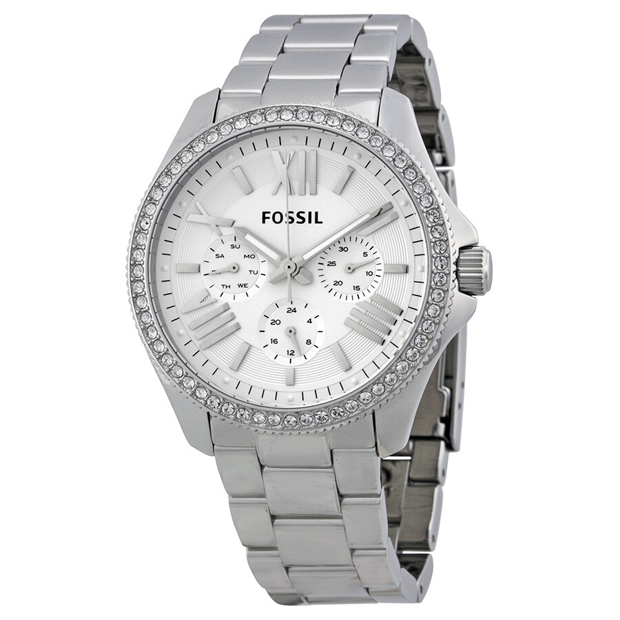 Fossil cecile multifunction stainless steel ladies watch am4481 cecile fossil watches for Stainless steel watch