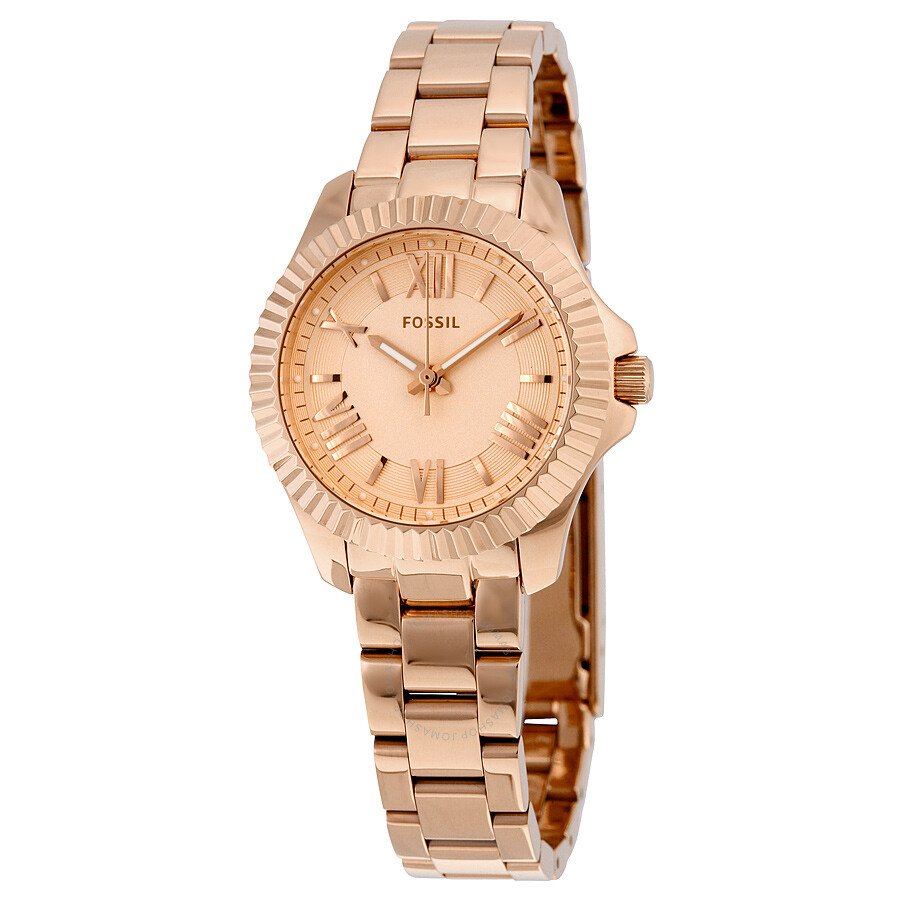 fossil cecile rose dial rose gold tone ladies watch am4611 cecile fossil watches jomashop. Black Bedroom Furniture Sets. Home Design Ideas