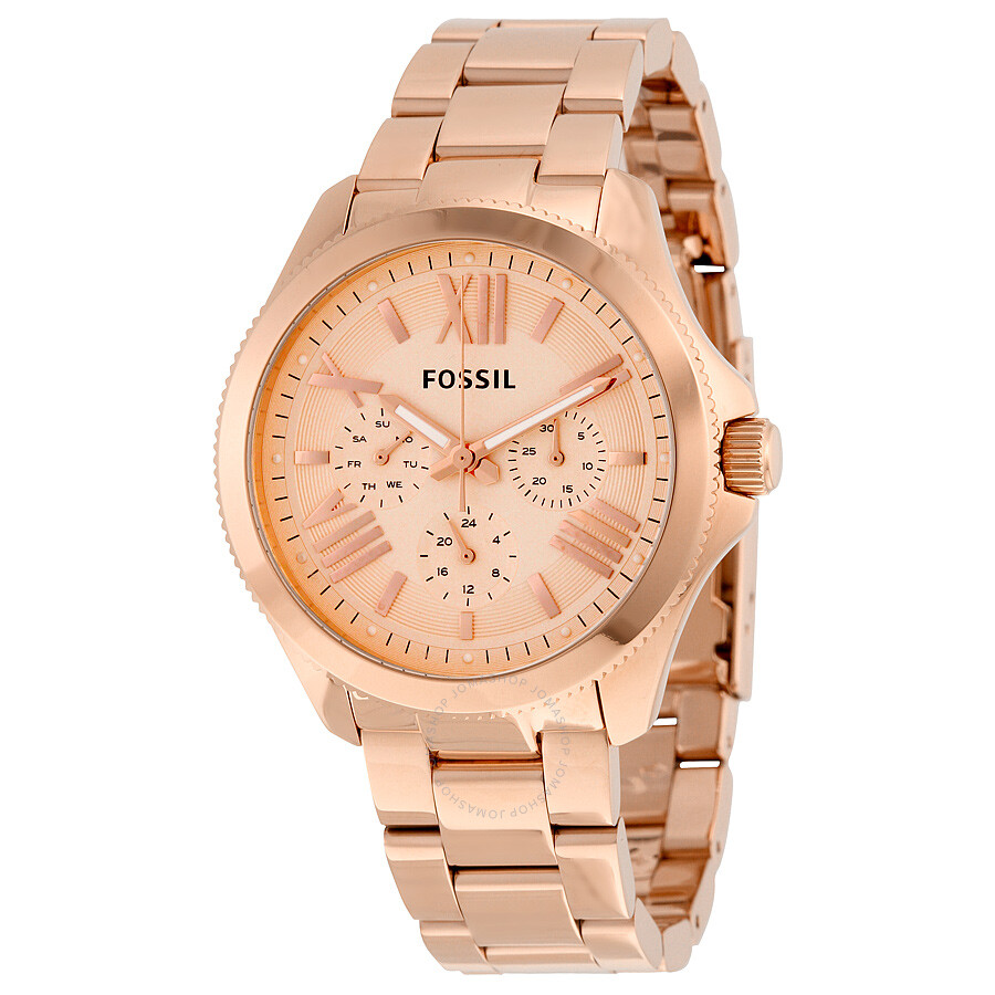 fossil cecile rose gold tone dial rose gold tone steel ladies watch am4511 cecile fossil. Black Bedroom Furniture Sets. Home Design Ideas