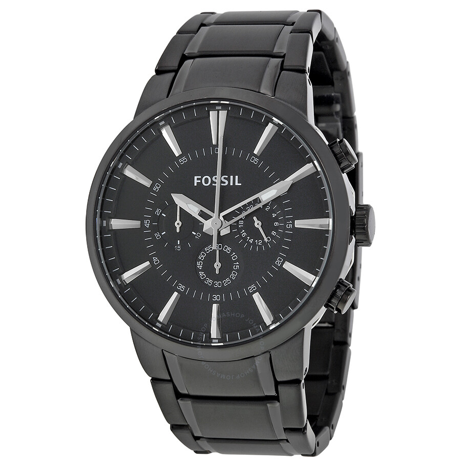 Fossil chronograph black dial men 39 s watch fs4778 fossil watches jomashop for Fossil watches