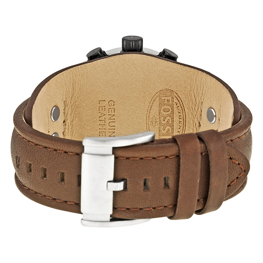 6cb5f8529 ... Fossil Coachman Chronograph White Dial Brown Leather Men's Watch CH2890