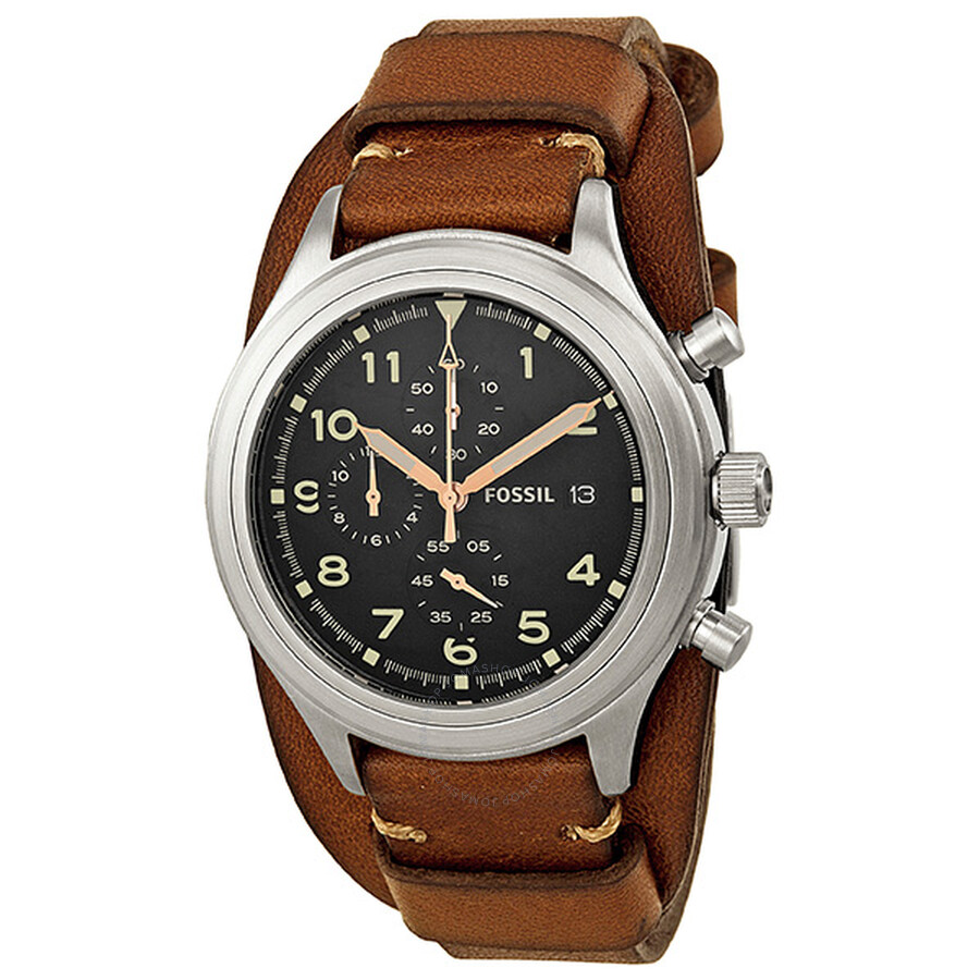 Men's Leather Watches: Shop Leather Straps ... - Fossil